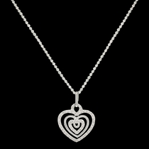 Triple the Love Heart Necklace (NC2514)