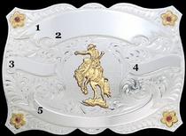 Trophy Belt Buckle 60753 by Montana Silversmiths