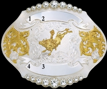 Trophy Event Buckle 61407 by Montana Silversmiths