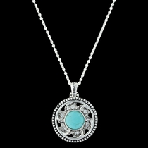 Tumbling Flower Medallion Necklace (NC3408)