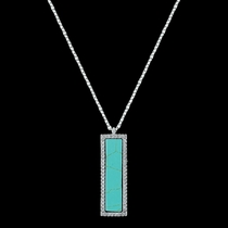 Turquoise Bar Necklace (NC3248)