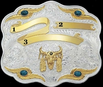 Turquoise Trophy Buckle 8103TQ  |  Montana Silversmiths