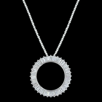 Twilight Halo Circle Necklace (NC3247)