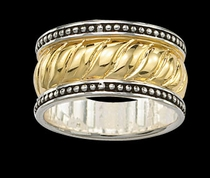 Twisted Gold Band by Montana Silversmiths