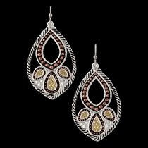 Twisted Rope Paisley Earrings (ER2679TRI)