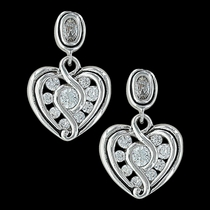 Twisted Up in Love Heart Earrings (ER2863)