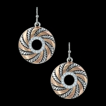 Twisted Wreath of Burnished Ribbon Earrings (ER3193)