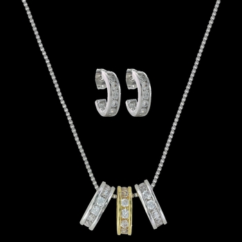 Two-Tone A Path of Star Lights Jewelry Set (JS2748)