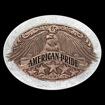 Two Tone American Pride Buckle (6198RG)