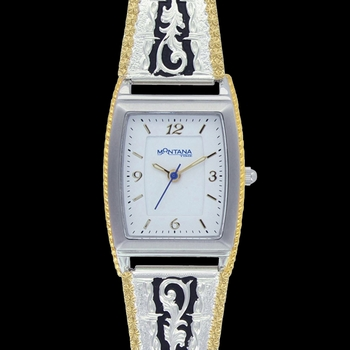 Two Tone Barbed Filigree Expansion Watch (WCH3367)