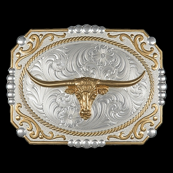 Two-tone Cowboy Cameo Buckle with Longhorn (25815-767)