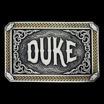 "Two Tone John Wayne ""The Duke\"" Attitude Buckle (A535)"