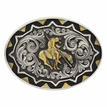 Two Tone Southwest Classic Impressions End of the Trail Attitude Buckle (A520)