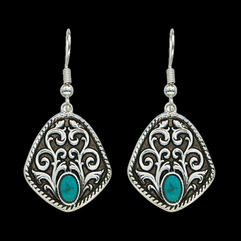 Vintage Turquoise Drops Earrings (ER1166TQ)