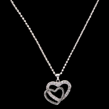 Western Heart Reflection Necklace (NC1857)