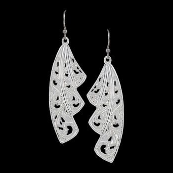 Western Lace Fan Leaf Earrings (ER2621)