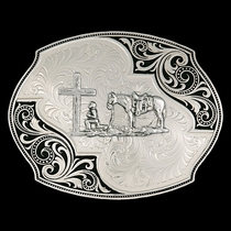 Western Lace Whisper Flourish Buckle with Christian Cowboy (27310-731)