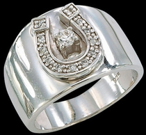 Wide Horseshoe Ring by Montana Silversmiths