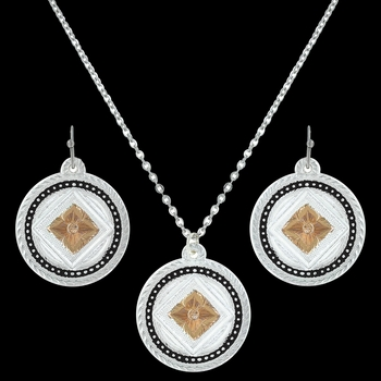 Wild Prairie Rose Cameo Jewelry Set (JS3113RGBK)