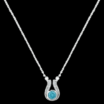 Winged Blue Star Lights Necklace (NC3070)