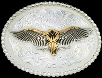 Winged Longhorn Belt Buckle