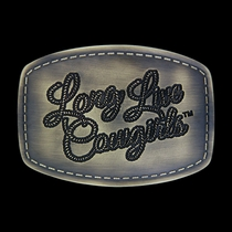 Wrangler® Long Live Cowgirls Patch Attitude Buckle (A369)