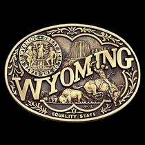 Wyoming State Heritage Attitude Buckle (60811WYC)