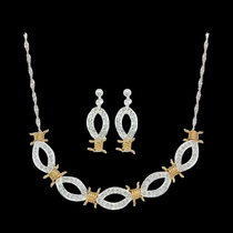 XOXO Crystal Barbed Wire Jewelry Set (JS61232)