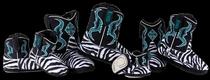 'Zebra' Boot Slippers