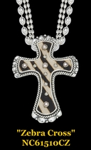 Zebra & Cheeta Cross Necklaces by Montana Silversmiths