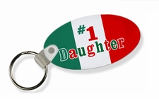 #1 Daughter Italian Flag Keychain