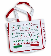 4-Color Italia Tote Bag w Inside Zipper