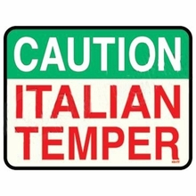 Caution Italian Temper T-shirt