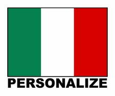 Custom Name Italian Flag Decal Sticker