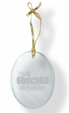 Godchild Glass Ornament
