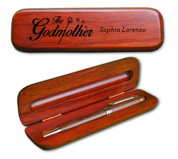 Godparent Wooden Pen Set