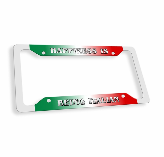 Happiness Is Being Italian License Plate Frame - On SALE $15.95 ...