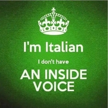 I'm Italian - I Don't Have An Inside Voice T-Shirt - SALE!