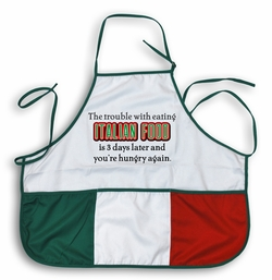 Italian Food - Hungry 3 Days Later Apron