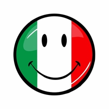 Italian Smiley Face Sticker