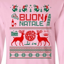 Italian Ugly Christmas Sweater Design Long Sleeve Tee