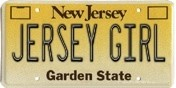 Jersey Girl License Plate Cover