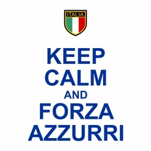 Keep Calm and Forza Azzurri T-Shirt