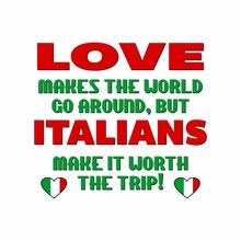 Love Makes The World Go Round, But Italians Make It Worth The Trip T-Shirt