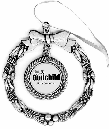 The Godchild Pewter Holiday Ornament  On SALE 1495  Guido Gear
