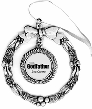 The Godfather Pewter Holiday Ornament