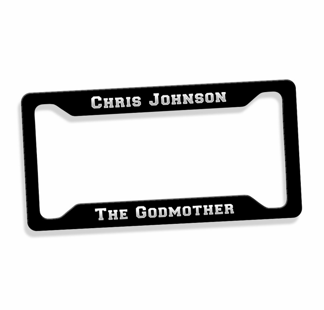 The Godmother License Plate Frame - On SALE $16.95 | Guido Gear ...