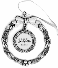 The Godmother Pewter Holiday Ornament