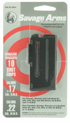 Savage Arms 93, 502, 503 10 Round 22WMR/17HMR Factory Magazine