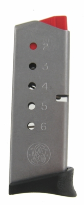 Smith & Wesson Bodyguard .380 ACP 6 Round Stainless Factory Magazine